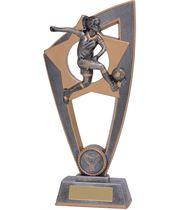 """Football Female Star Blast Trophy 20cm (8"""")"""