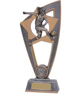 "Football Female Star Blast Trophy 20cm (8"")"