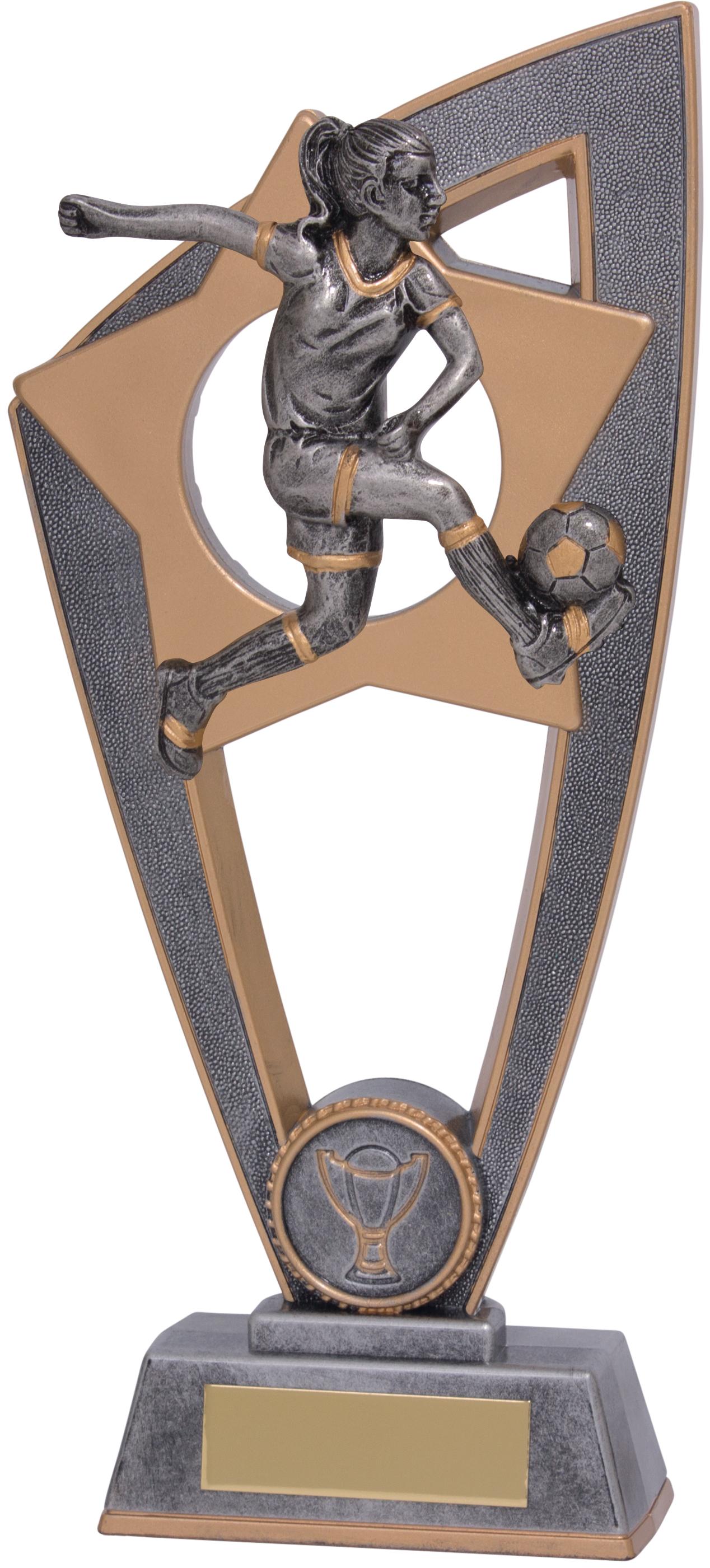"""Football Female Star Blast Trophy 23cm (9"""")"""