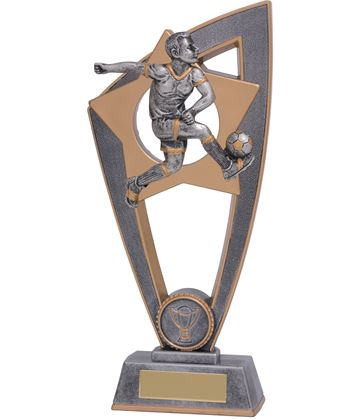 "Football Male Star Blast Trophy 18cm (7"")"