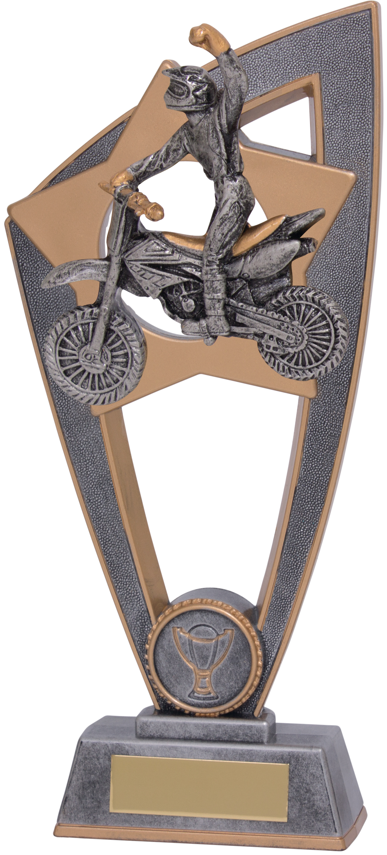 "Motocross Star Blast Trophy 23cm (9"")"