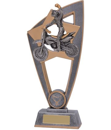 "Motocross Star Blast Trophy 20cm (8"")"