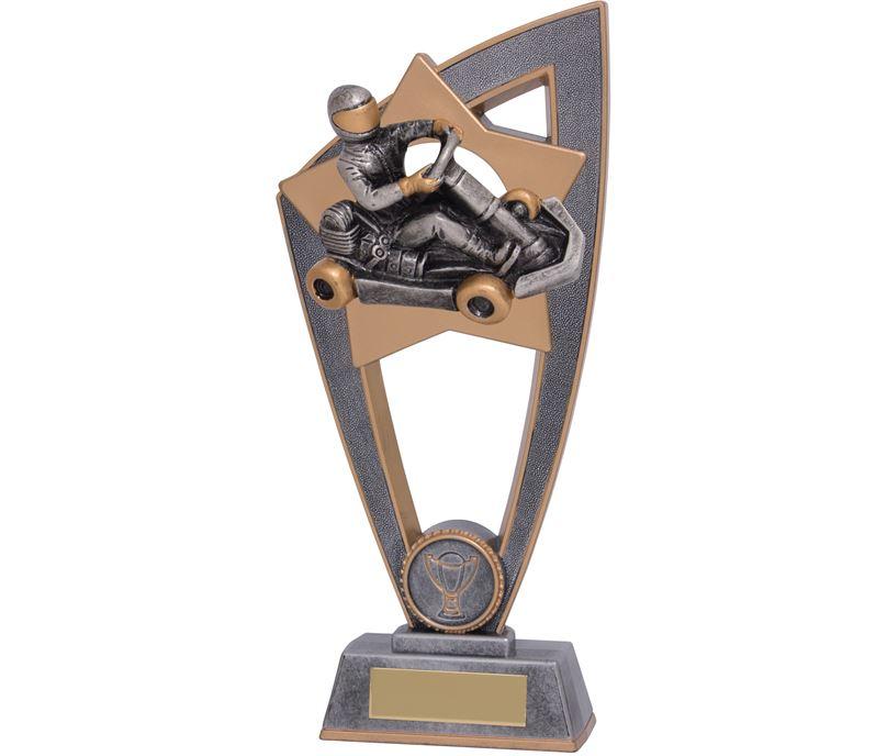 "Motorsport Go Kart Star Blast Trophy 23cm (9"")"