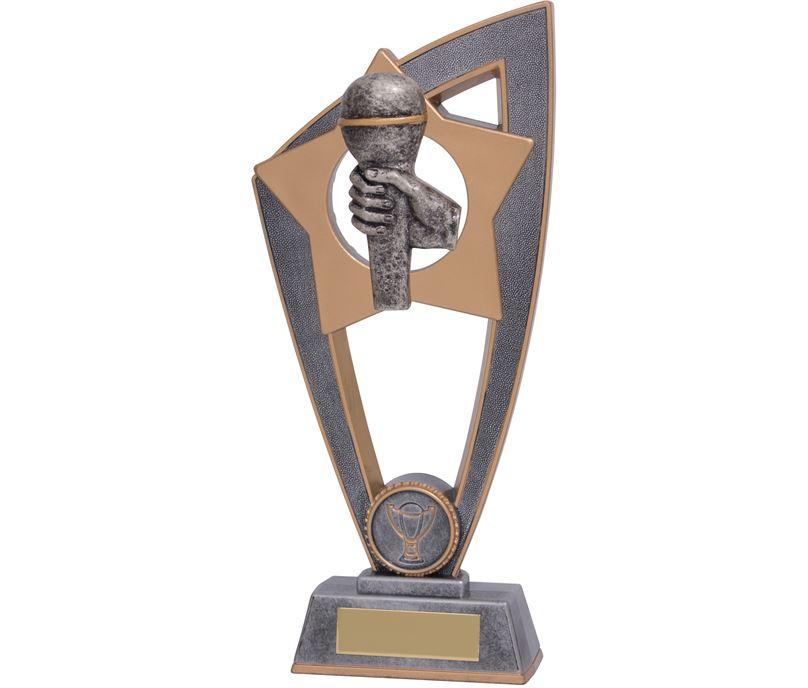 "Microphone Star Blast Trophy 23cm (9"")"