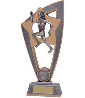 "Female Running Star Blast Trophy 20cm (8"")"