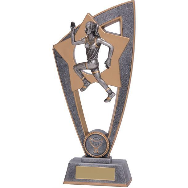 "Female Running Star Blast Trophy 20cm (8"")"