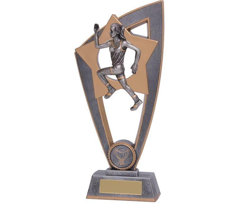 "Female Running Star Blast Trophy 18cm (7"")"