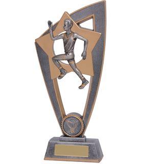 "Male Running Star Blast Trophy 20cm (8"")"