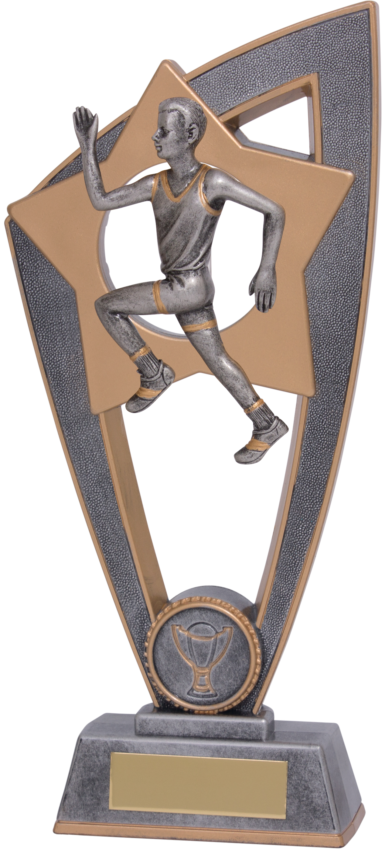"Male Running Star Blast Trophy 23cm (9"")"