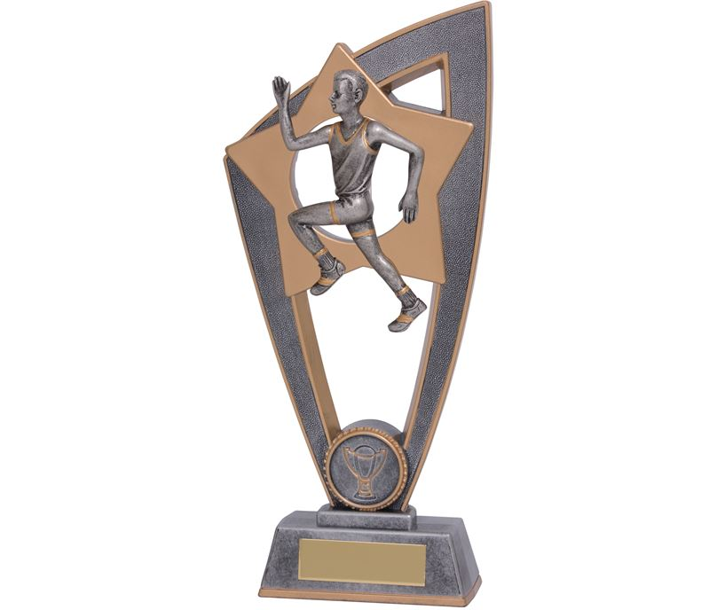 "Male Running Star Blast Trophy 18cm (7"")"