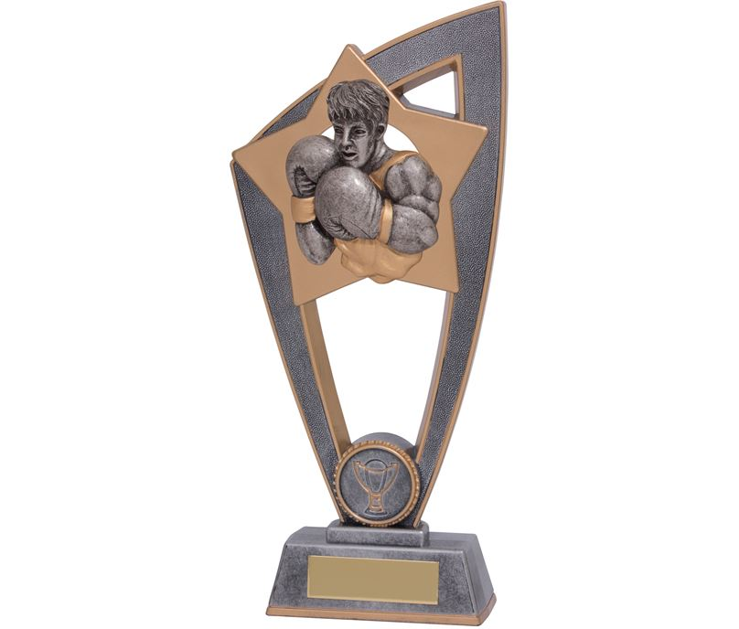 "Boxing Star Blast Trophy 23cm (9"")"