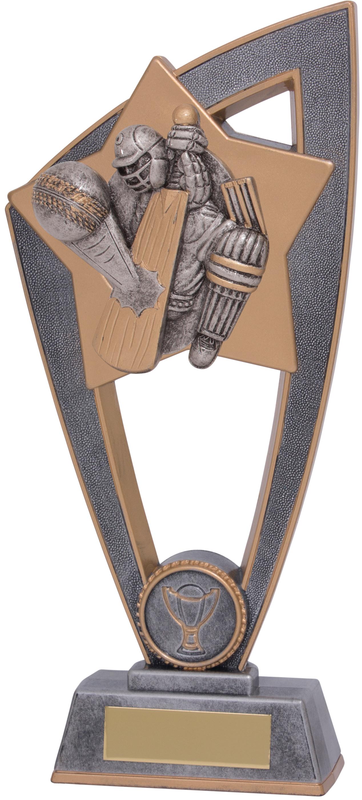 "Cricket Batsman Star Blast Trophy 23cm (9"")"