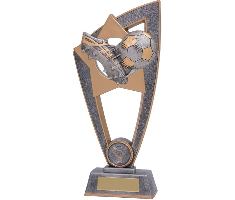 "Football Boot & Ball Star Blast Trophy 23cm (9"")"
