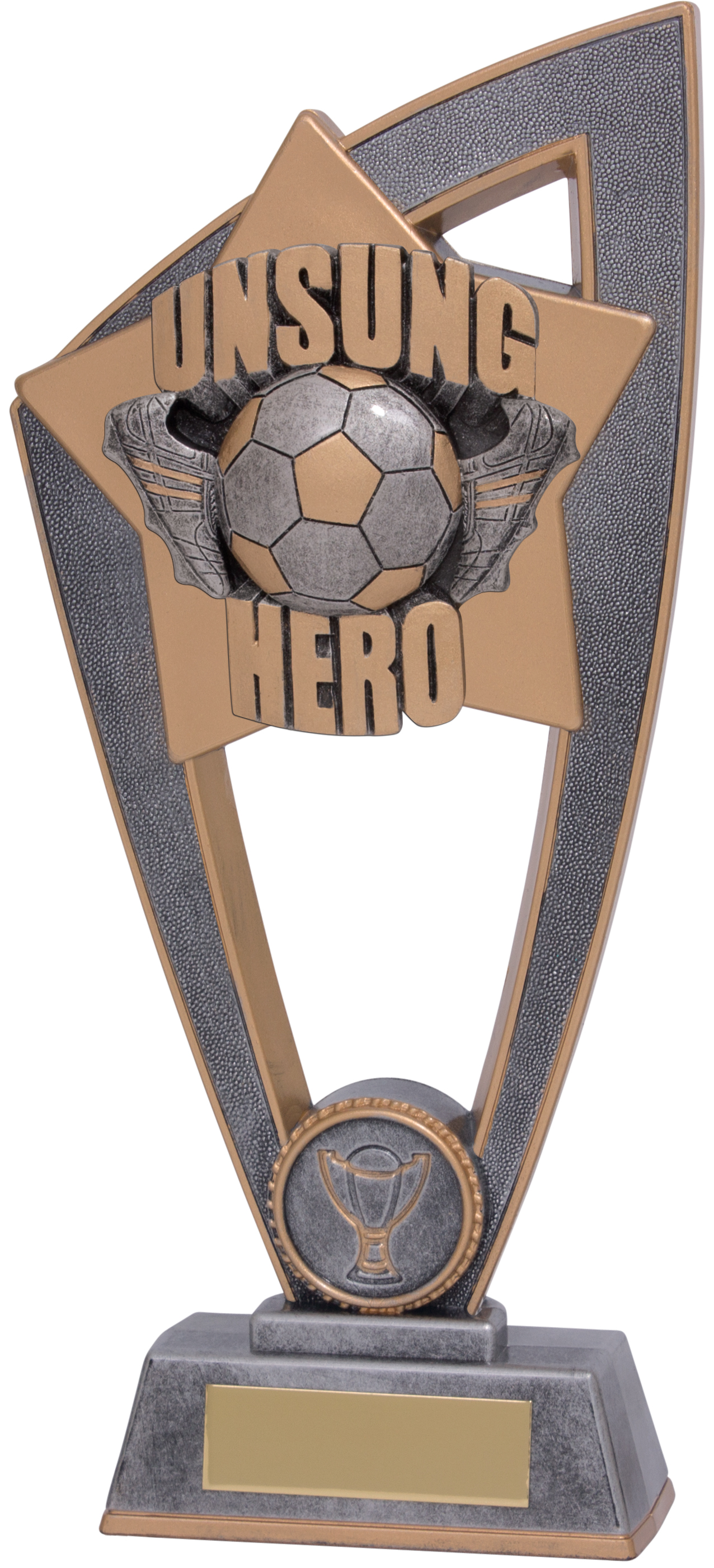 "Football Unsung Hero Star Blast Trophy 20cm (8"")"