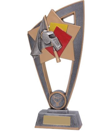 "Referee Whistle Star Blast Trophy 18cm (7"")"