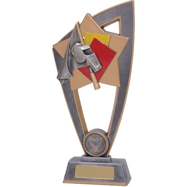 "Referee Whistle Star Blast Trophy 20cm (8"")"