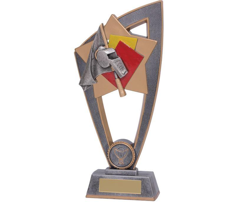 "Referee Whistle Star Blast Trophy 23cm (9"")"
