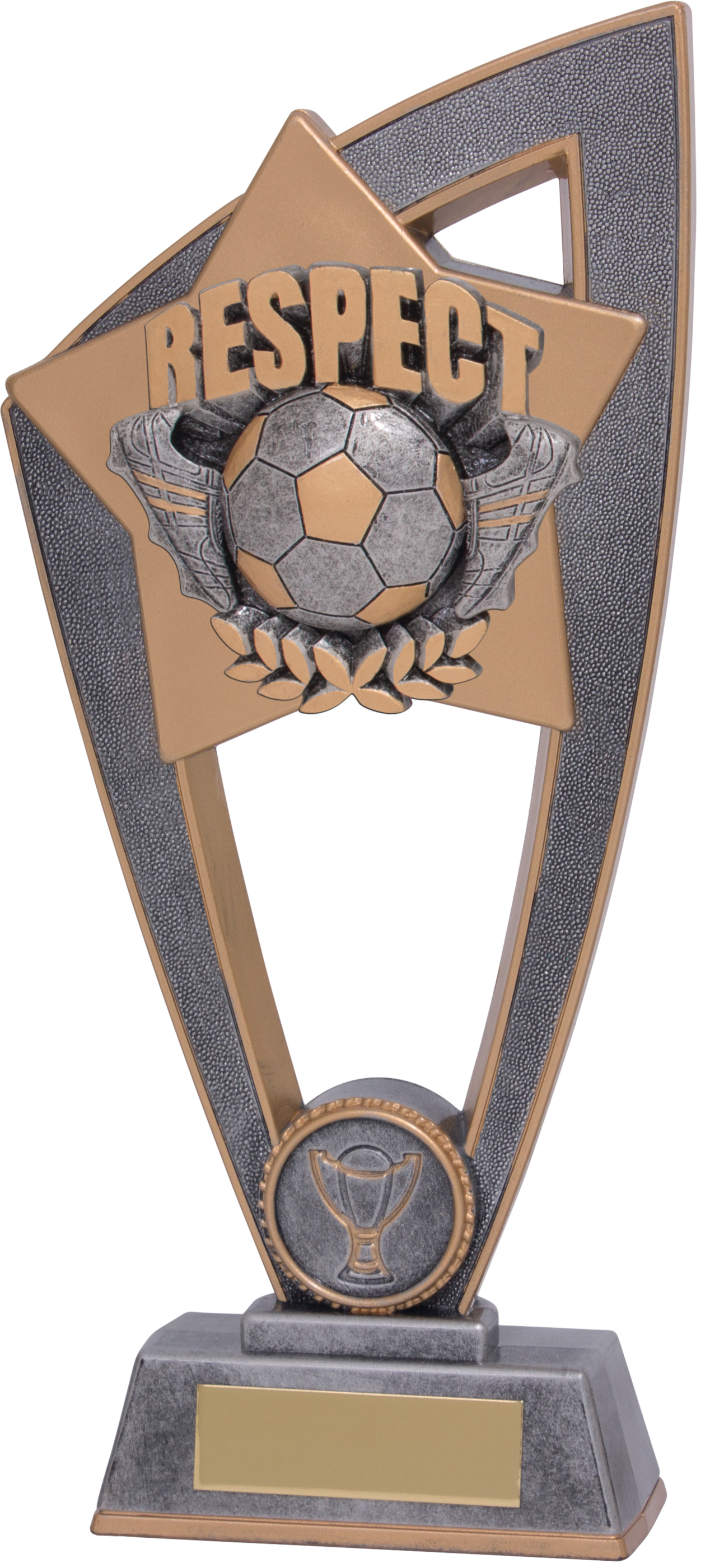 "Football Respect Star Blast Trophy 18cm (7"")"