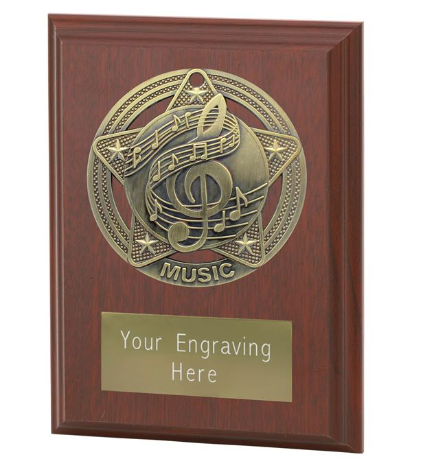 """Music Plaque Award by Infinity Stars 10cm (4"""")"""