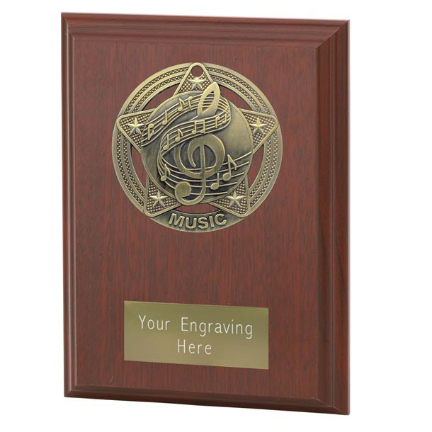 "Music Plaque Award by Infinity Stars 12.5cm (5"")"