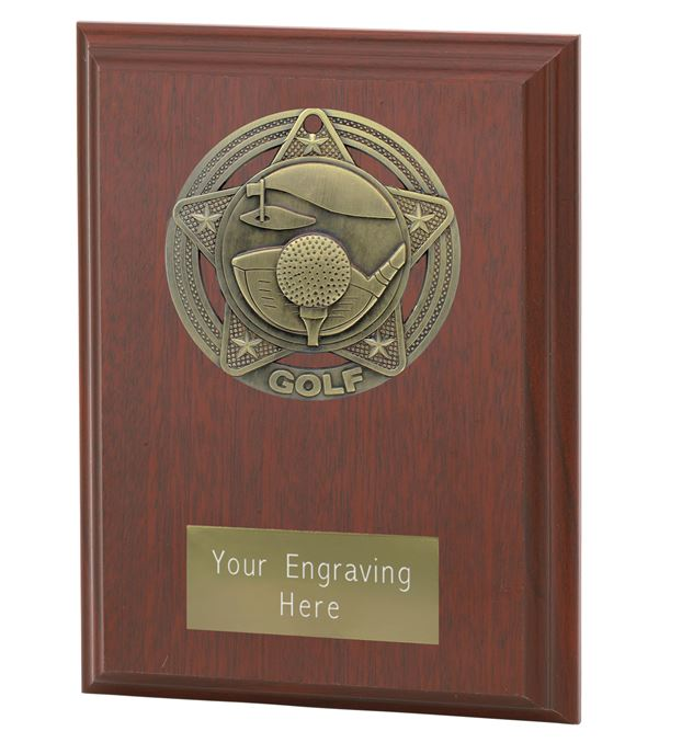 "Golf Plaque Award by Infinity Stars 12.5cm (5"")"