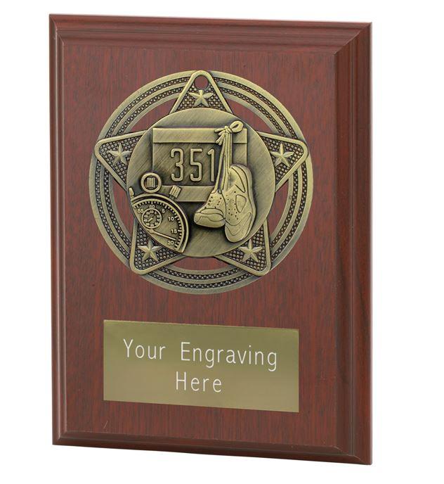 "Athletics Plaque Award by Infinity Stars 10cm (4"")"