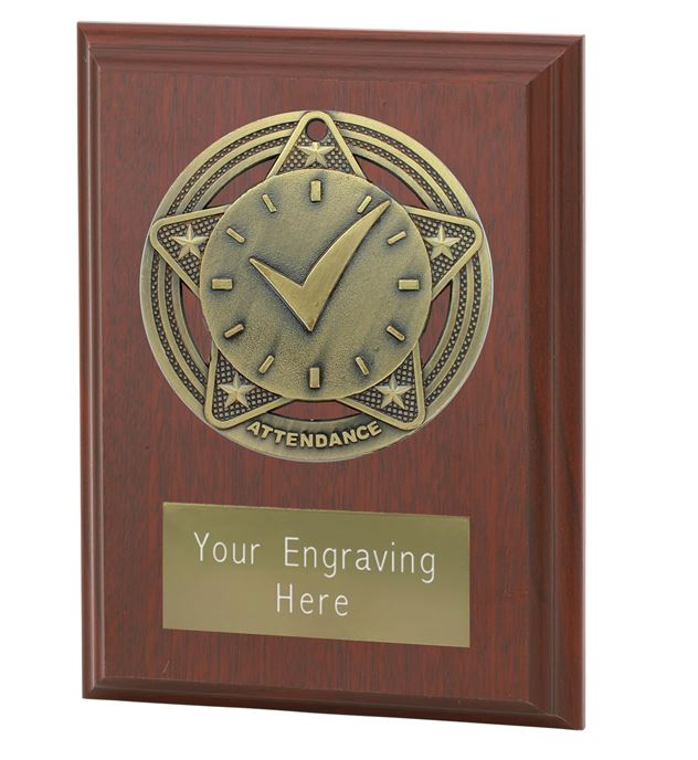 """Attendance Plaque Award by Infinity Stars 10cm (4"""")"""
