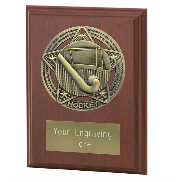 "Hockey Plaque Award by Infinity Stars 10cm (4"")"