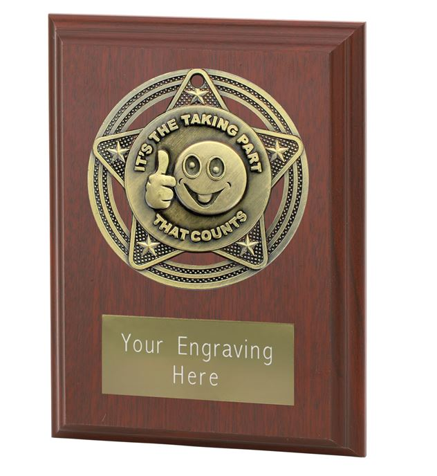 "Participation Plaque Award by Infinity Stars 10cm (4"")"