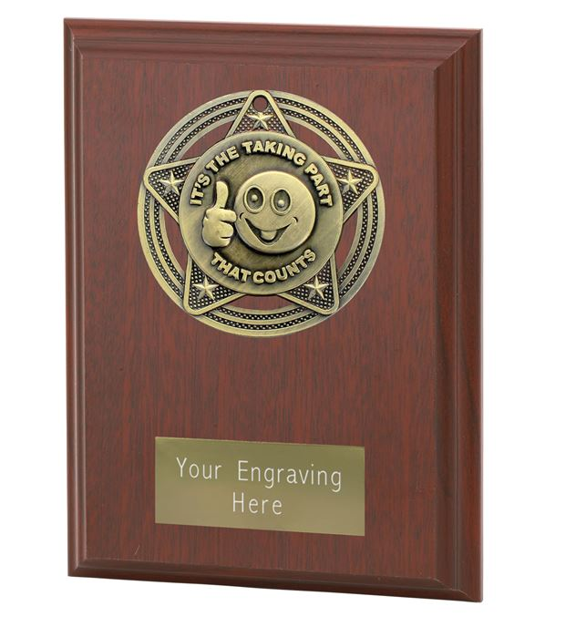 """Participation Plaque Award by Infinity Stars 12.5cm (5"""")"""