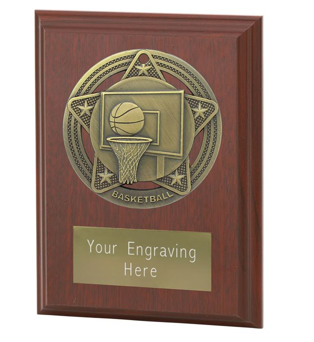 """Basketball Plaque Award by Infinity Stars 10cm (4"""")"""