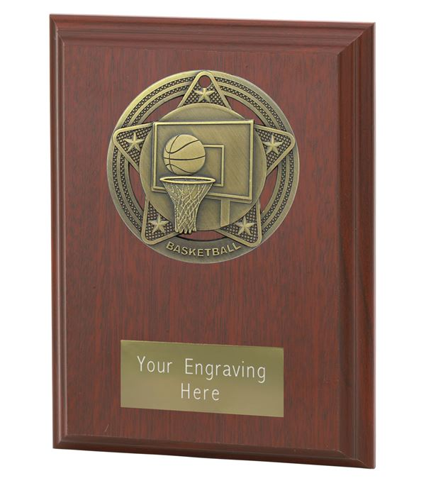 """Basketball Plaque Award by Infinity Stars 12.5cm (5"""")"""