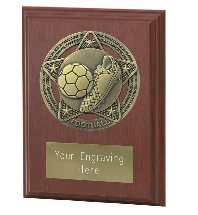 "Football Plaque Award by Infinity Stars 10cm (4"")"