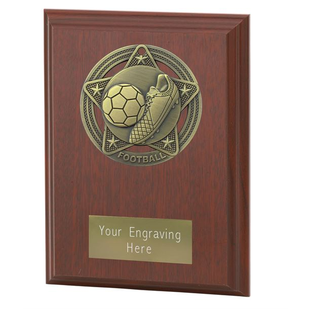 "Football Plaque Award by Infinity Stars 12.5cm (5"")"