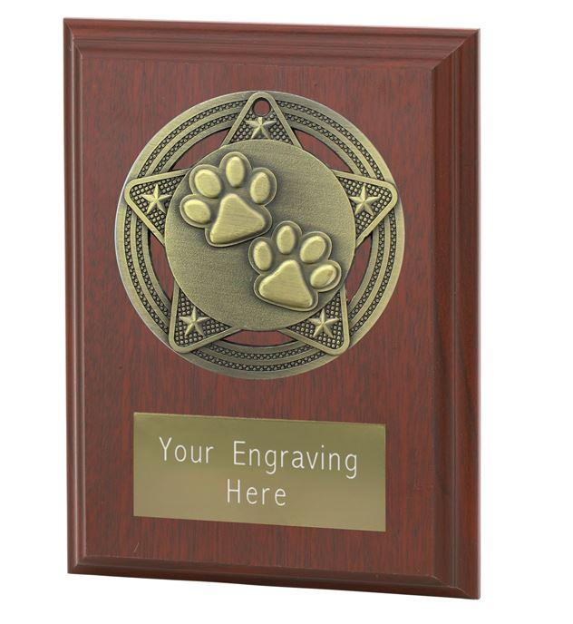 "Paw Print Plaque Award by Infinity Stars 10cm (4"")"