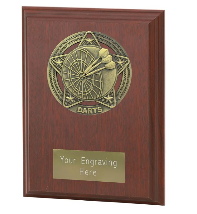 "Darts Plaque Award by Infinity Stars 12.5cm (5"")"