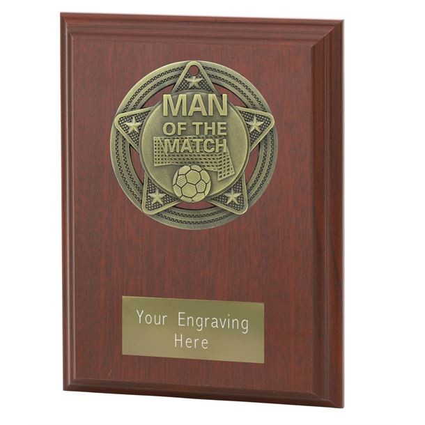 "Man of the Match Plaque Award by Infinity Stars 12.5cm (5"")"
