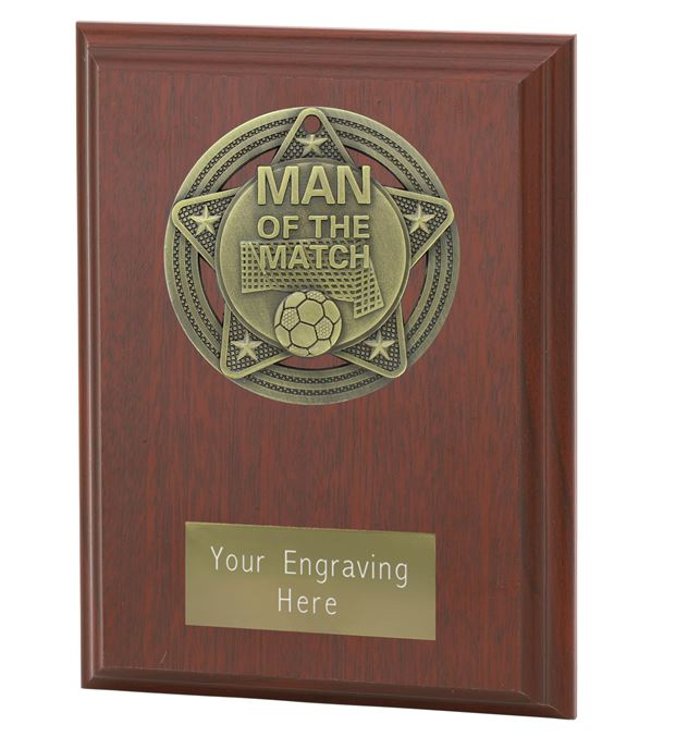 """Man of the Match Plaque Award by Infinity Stars 12.5cm (5"""")"""