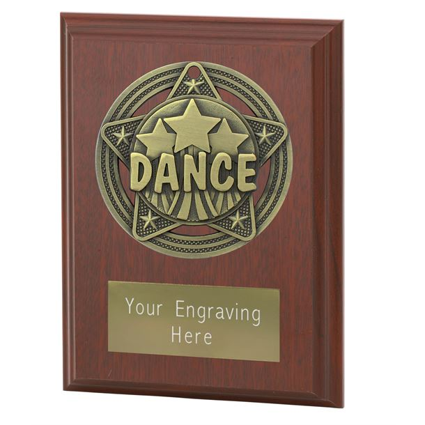 "Dance Plaque Award by Infinity Stars 10cm (4"")"
