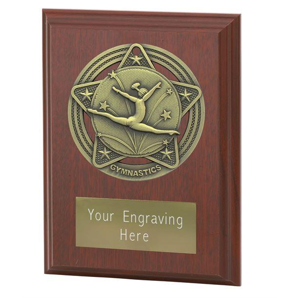 """Female Gymnastics Plaque Award by Infinity Stars 10cm (4"""")"""