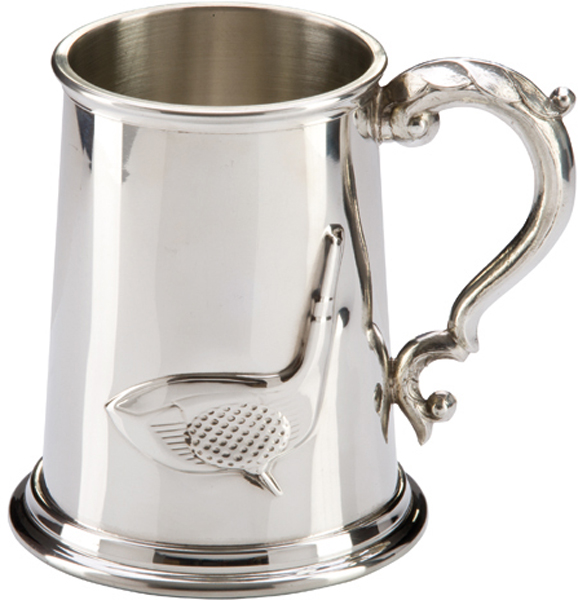 "Troon Golf Sheffield Pewter Tankard 12.5cm (5"")"