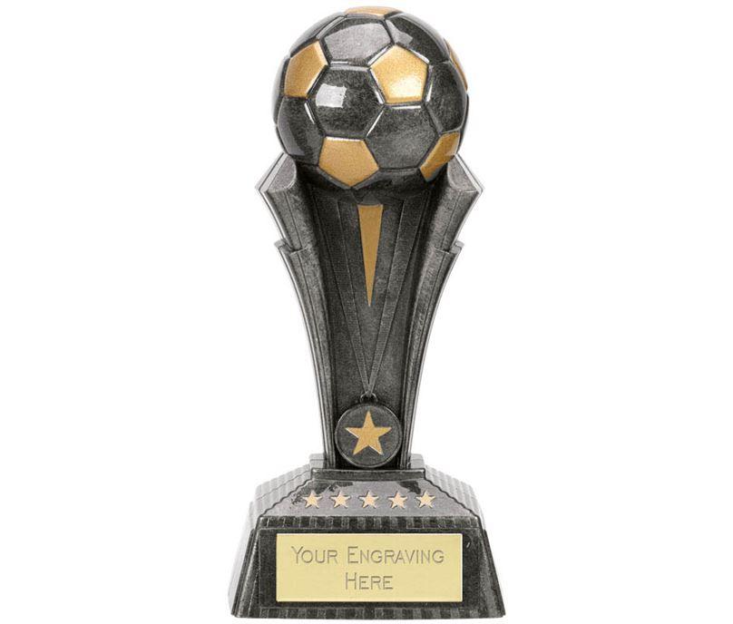"Football Project X Column Trophy Antique Silver 19cm (7.5"")"