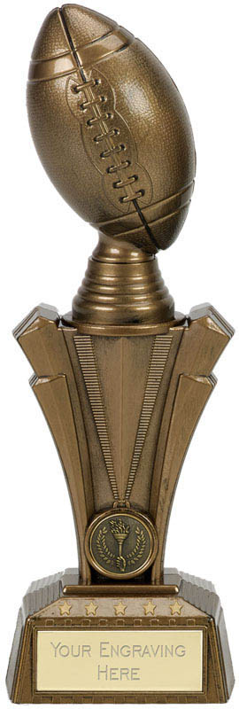 "American Football Project X Column Trophy Antique Gold 28cm (11"")"