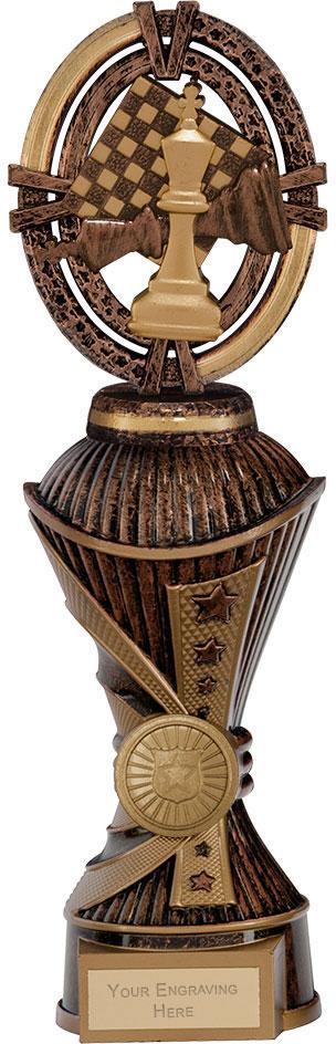 """Maverick Chess Heavyweight Trophy Antique Bronze & Gold 26.5cm (10.5"""")"""