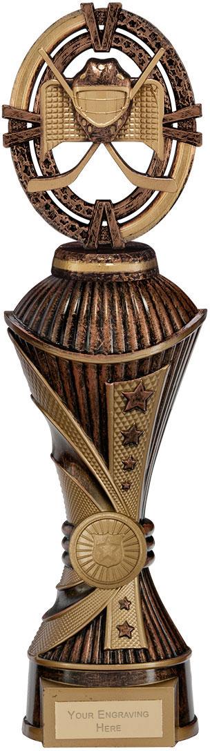 "Maverick Ice Hockey Heavyweight Trophy Antique Bronze & Gold 30.5cm (12"")"