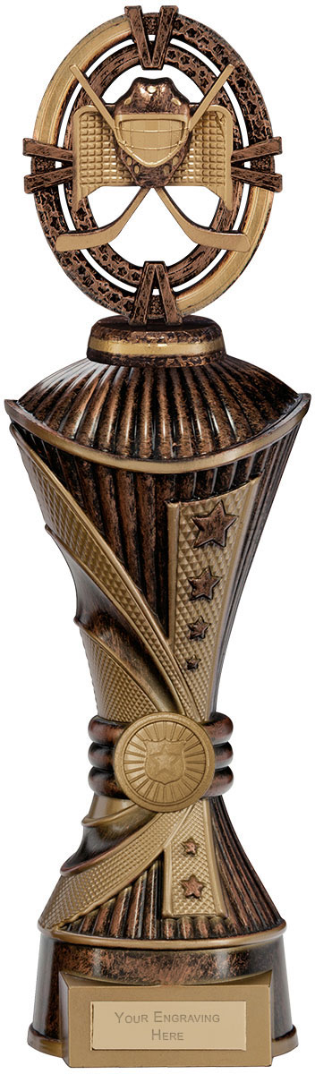 "Maverick Ice Hockey Heavyweight Trophy Antique Bronze & Gold 33cm (13"")"
