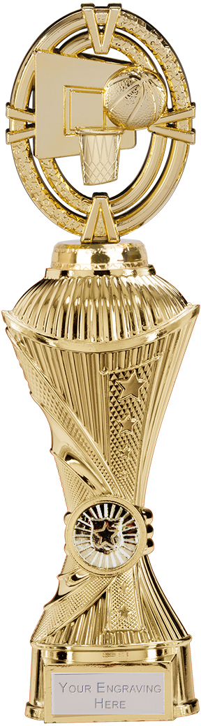 "Maverick Basketball Heavyweight Trophy Gold 28.5cm (11.25"")"