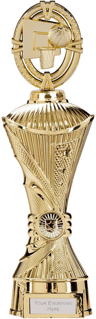 "Maverick Basketball Heavyweight Trophy Gold 33cm (13"")"