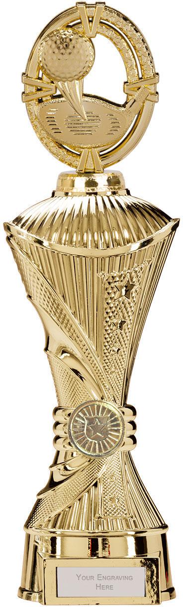 """Maverick Golf Heavyweight Trophy Gold 33cm (13"""")"""