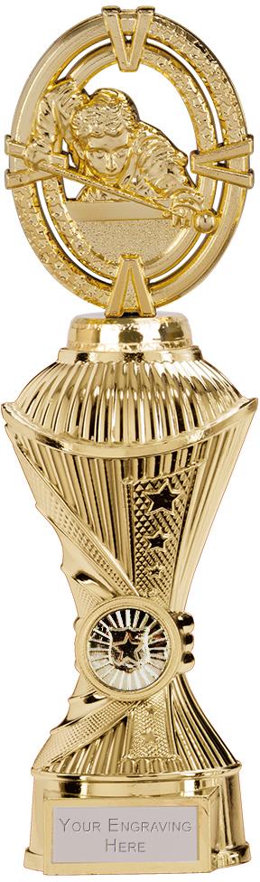 """Maverick Snooker Heavyweight Trophy Gold 26.5cm (10.5"""")"""